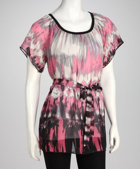 Pink Abstract Tunic