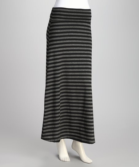 Black Stripe Skirt