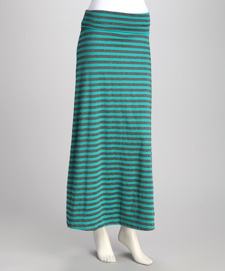 Teal Stripe Skirt