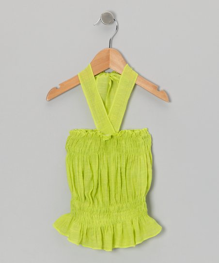 Lime Green Halter Top - Toddler & Girls
