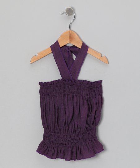 Purple Halter Top - Toddler & Girls