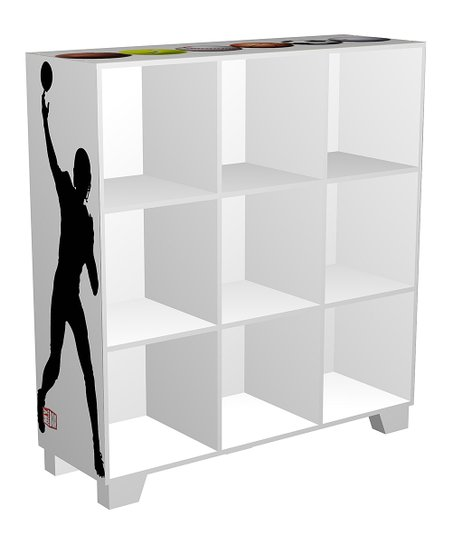 White Nine-Compartment Cube-Its Organizer