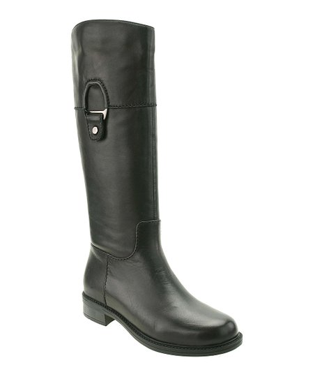 Black Wide-Calf Eileen Boot
