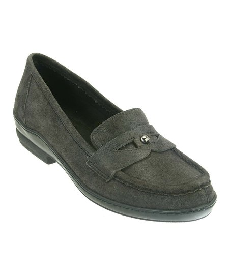 Black Antique Leather Lauren Loafer