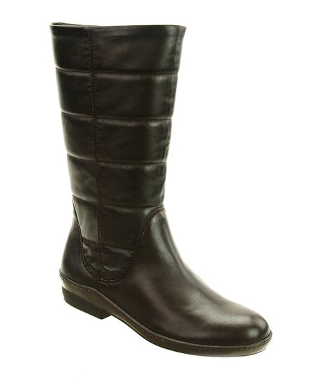 Brown Lambskin Pamela Boot