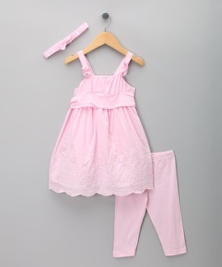 Pink Eyelet Dress Set - Toddler & Girls