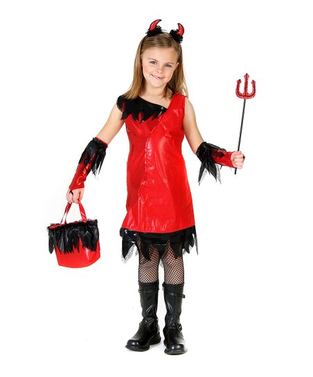 Red Veronica the Devil Dress-Up Set - Girls