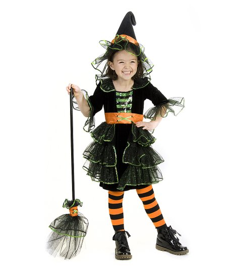Black Glam Witch Dress-Up Set - Infant, Toddler & Kids