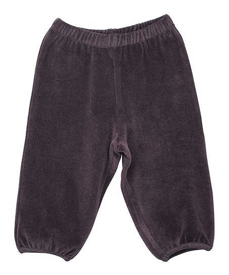 Coffee Velour Pants - Infant