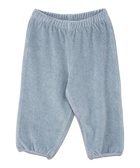 Dusty Blue Velour Pants - Infant