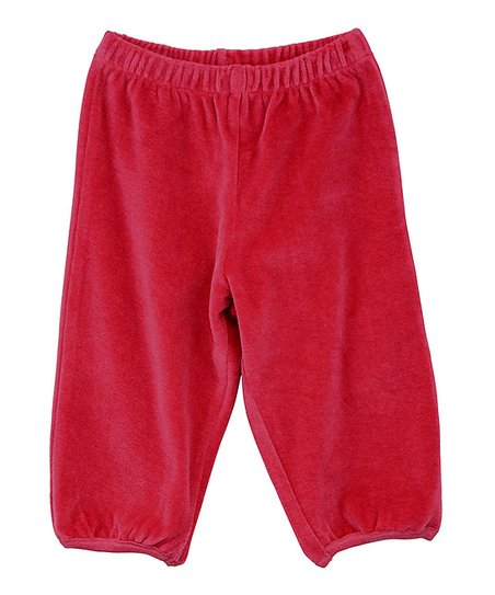 Pink Velour Pants - Infant
