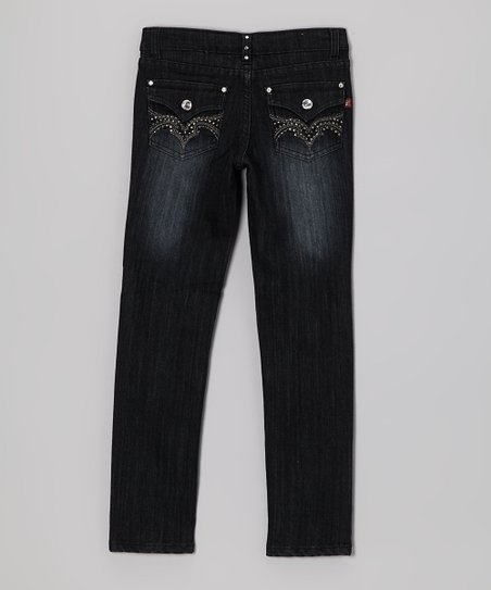 Black Stud Jeans - Toddler & Girls