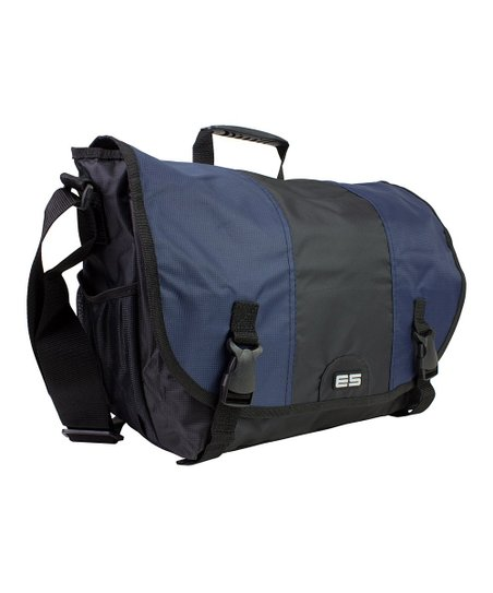 Navy Laptop Messenger Bag