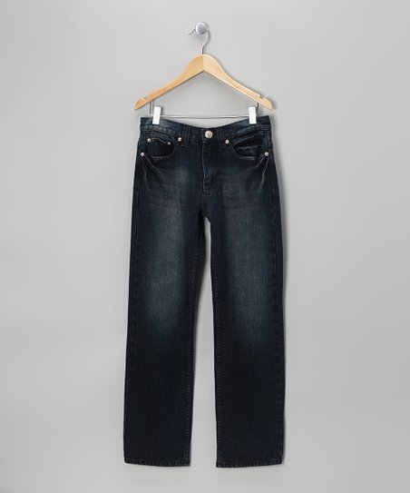 Vintage Black Denim Straight-Leg Jeans - Boys