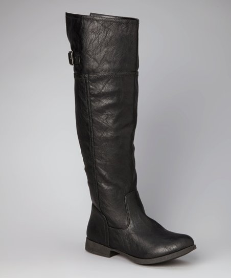 Black Land Knee-High Boot