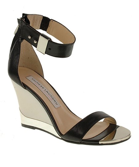 Black Suede Sogno Wedge Sandal