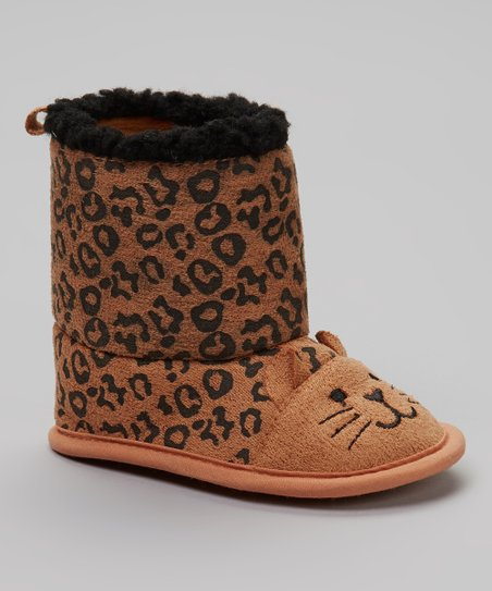 Brown & Black Leopard Boot