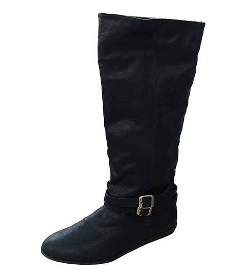Black Ridge Buckle Boot