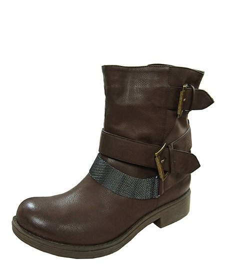 Brown Raggae Chain Ankle Boot