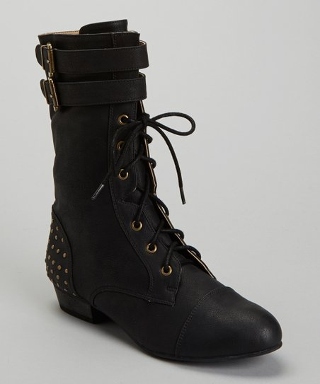 Black Rick Lace-up Boot