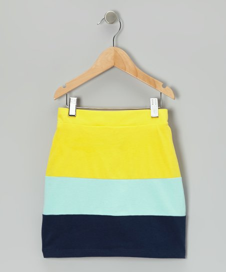 Yellow Makiko Color Block Skort - Infant, Toddler & Girls