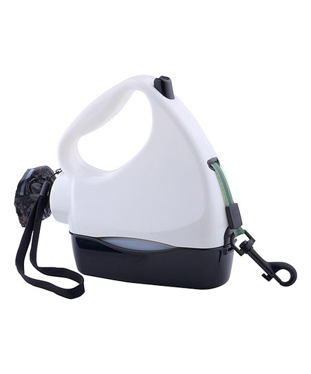 White & Black Four-in-One Retractable Leash