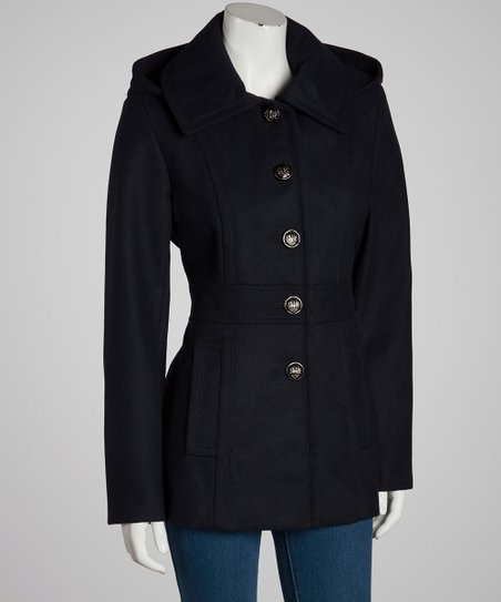 Navy Removable Hood Jacket