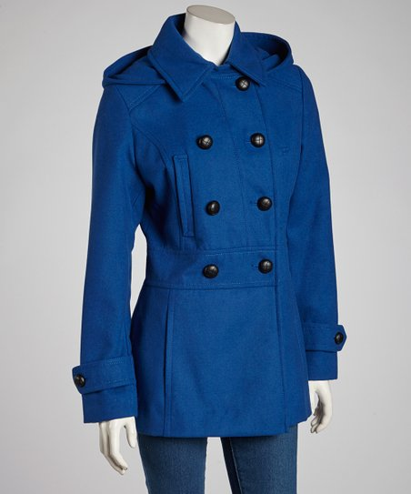 Cobalt Removable Hood Peacoat