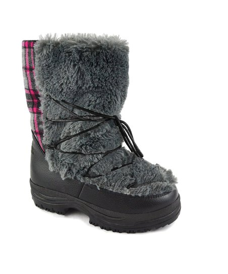 Gray Alaska Short Snow Boot - Women