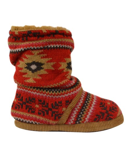 Red & Sand Daphne Slipper Boot - Women