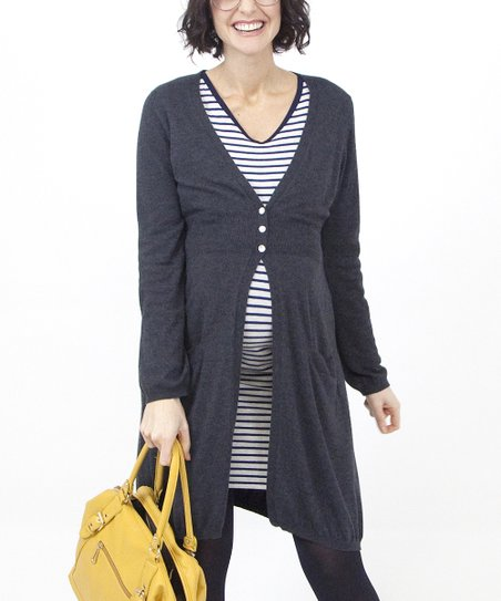 Smudge Knit Maternity Cardigan