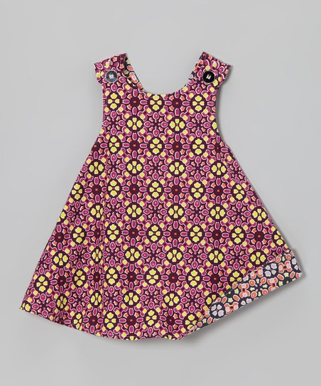 Purple & Yellow Reversible Jumper - Infant, Toddler & Girls