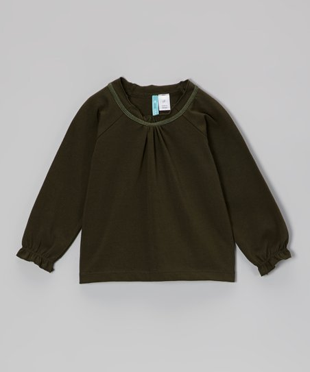 Green Peasant Top - Infant, Toddler & Girls