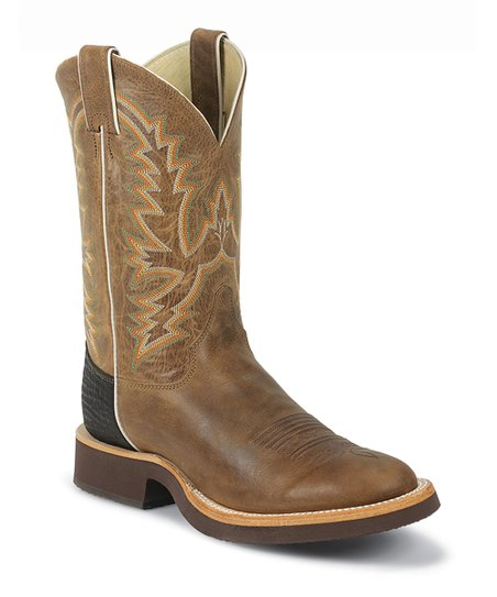 Mocha Arizona Cowhide Tekno Crepe® Cowboy Boot - Men