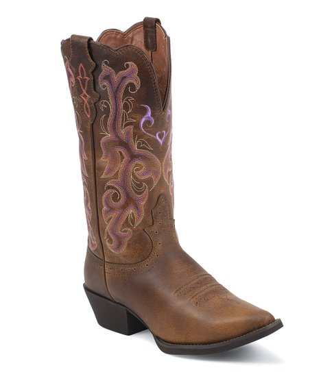 Tan Vintage Buffalo Cowboy Boot - Women