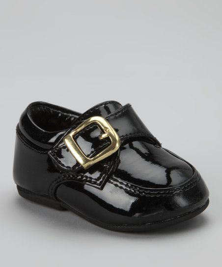 Black Buckle Tutu Dress Shoe - Boys