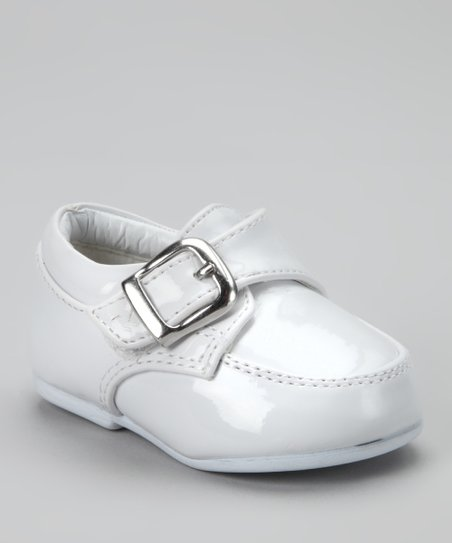 White Buckle Tutu Dress Shoe