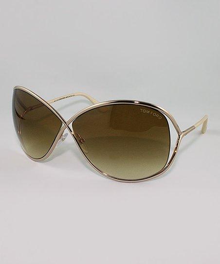 Gold Miranda Crossover Sunglasses