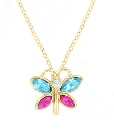 Turquoise Butterfly Pendant Necklace