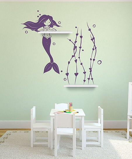 Violet It's A Mermaid Thing Shelf & Wall Decal Set