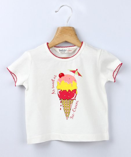 White Ice Cream Tee - Infant, Toddler & Girls
