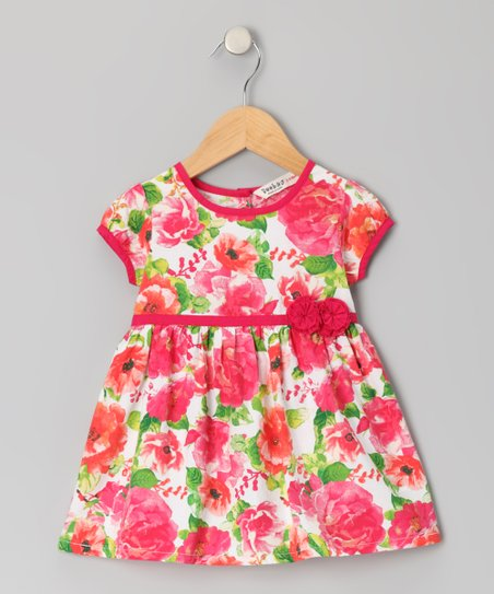 Red Rose Dress - Infant, Toddler & Girls
