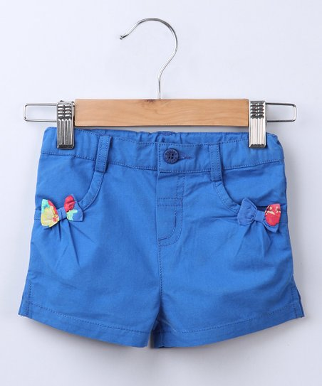 Navy Bow Shorts - Infant, Toddler & Girls