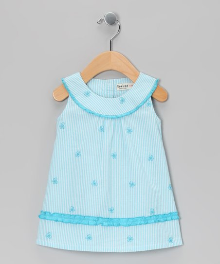Blue Butterfly Yoke Dress - Infant, Toddler & Girls
