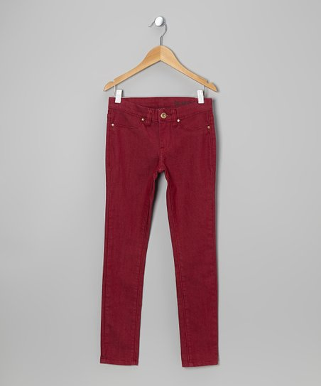 Rhubarb Spray On Skinny Jeans - Girls