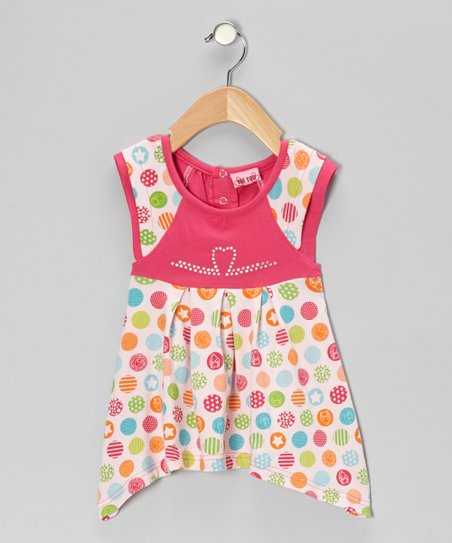 Pink Circle & Star Dress - Infant & Toddler