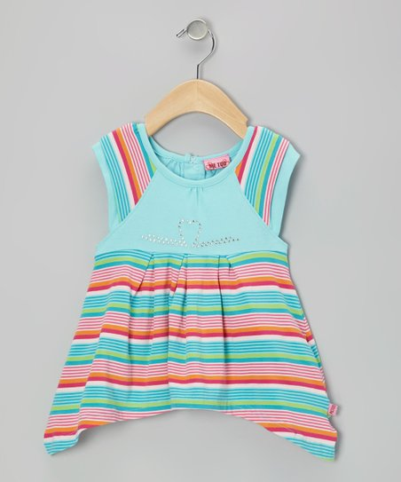 Blue & Pink Stripe Dress - Infant & Toddler