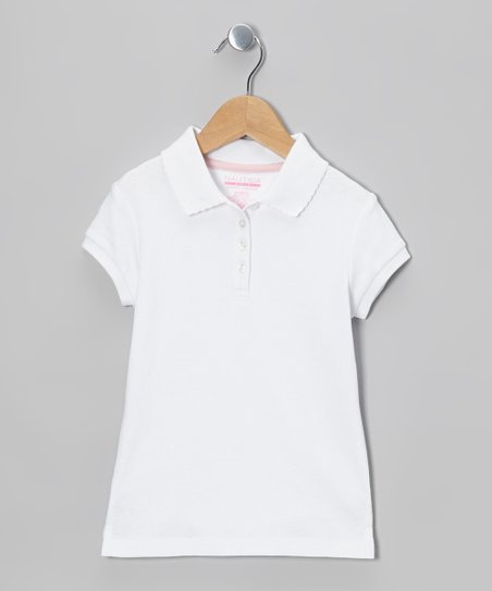 White Uniform Polo - Girls