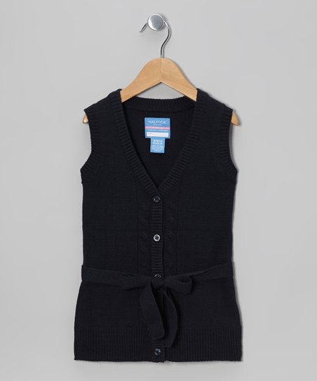 Navy Sweater Vest - Girls