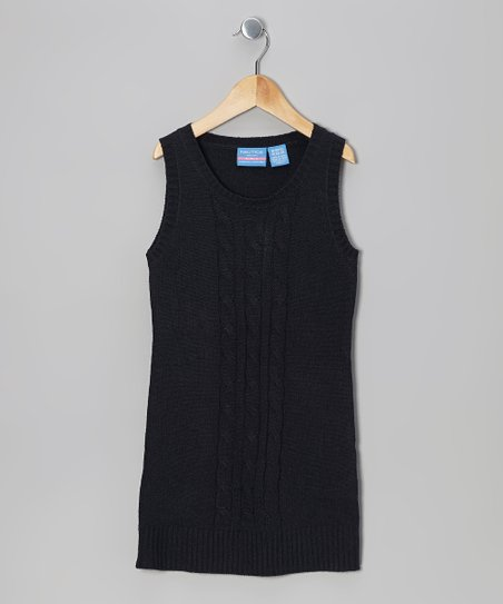 Navy Sweater Dress - Girls